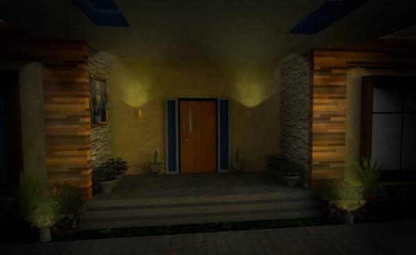 Image Interior night view of...