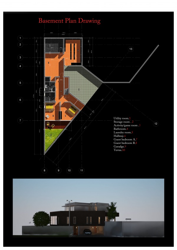Image Basement plan drawing ...