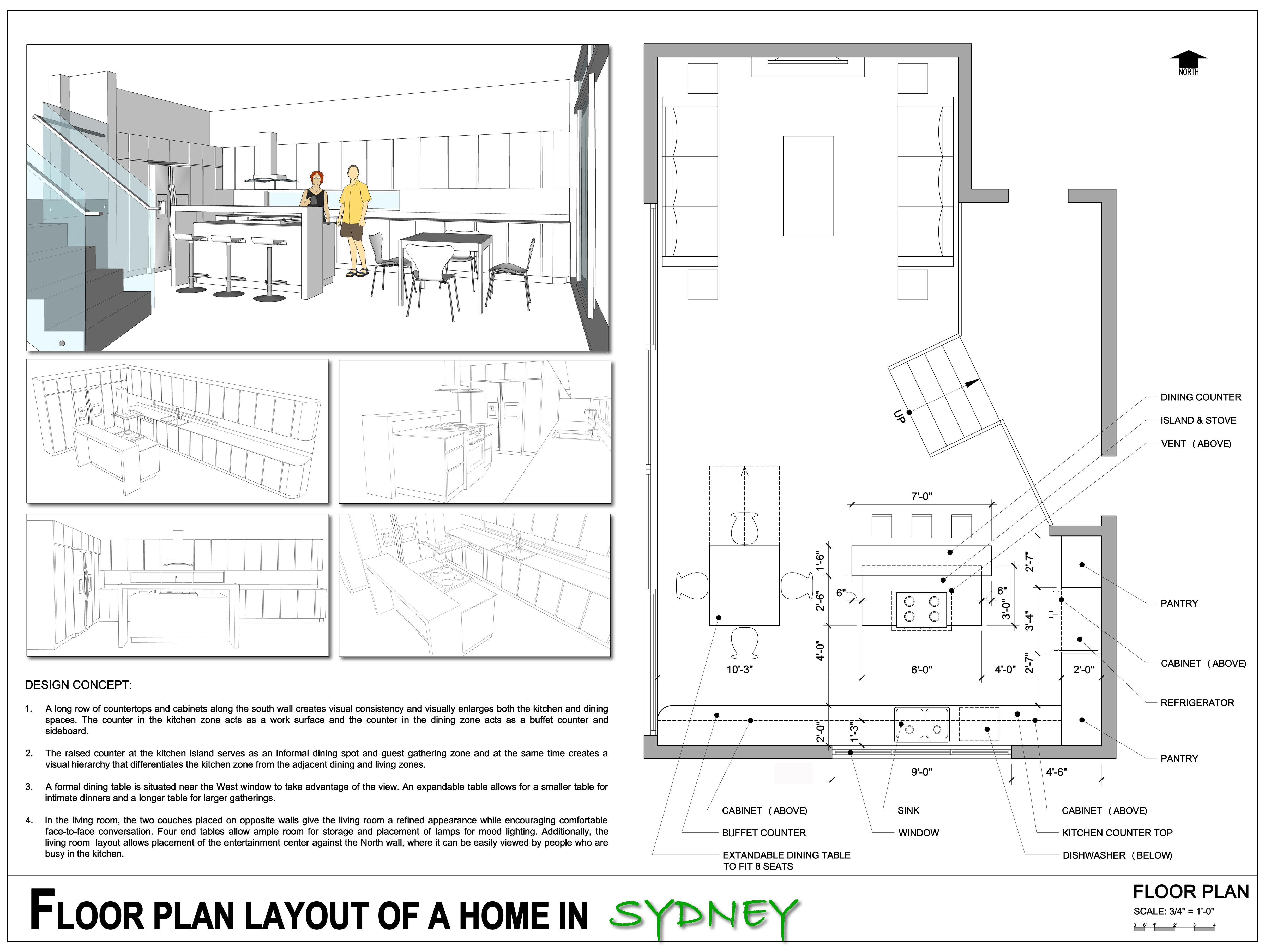 Floor Plans Project designed by Ziese + Hsieh - Floor Plan Layout ...