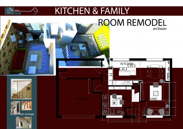 Image Kitchen & Family Room ...