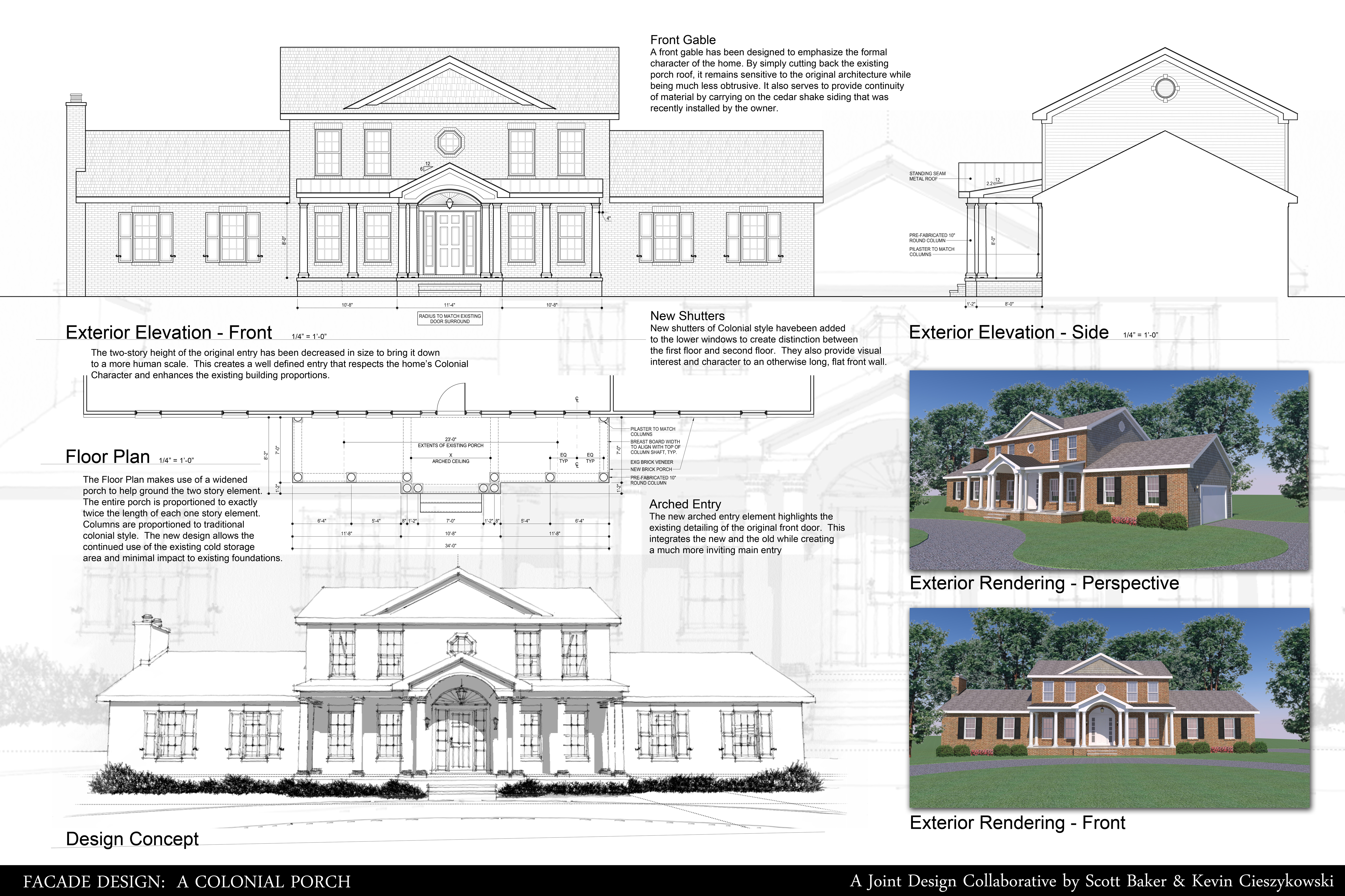 Photo Straight Gable Roof House Plans Images The 25