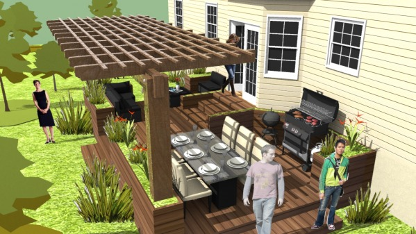 Backyard outdoor space 3