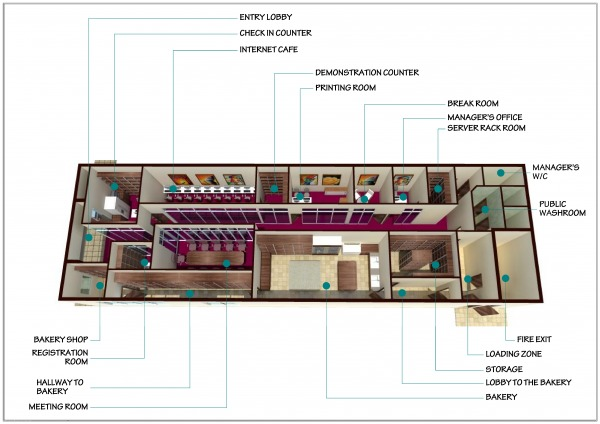 Commercial Offices Store Designed By Anonymous Interior Design Of Internet Cafe National Capital District Pg Arcbazar
