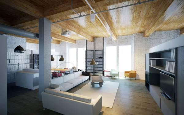 Image render entrance living