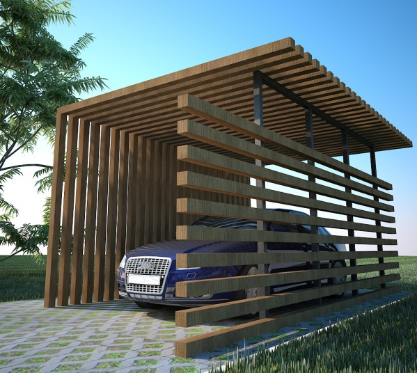 Modern Carport Kit United States : Backyard designed by mhd group carport los