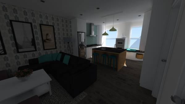 Image sheafe kitchen livingroom