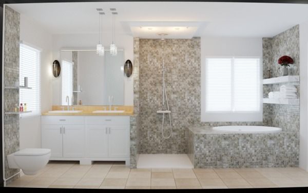 Image Master Bathroom and Be...