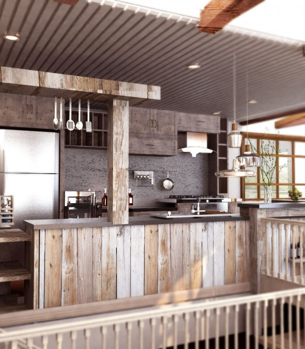 Image Rustic Mountain Kitche...