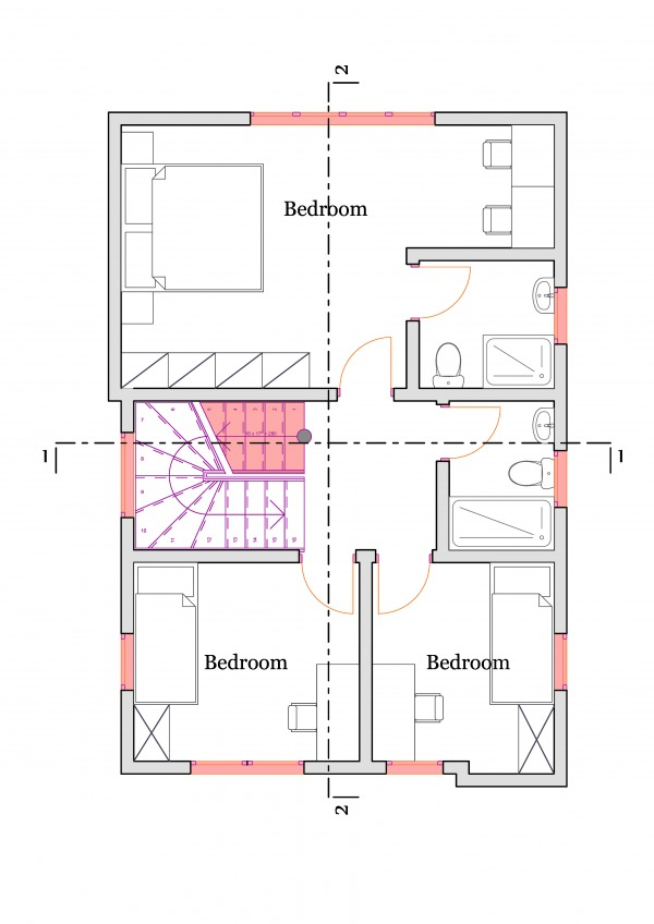 1ST FLOOR PLAN-VERSION 1