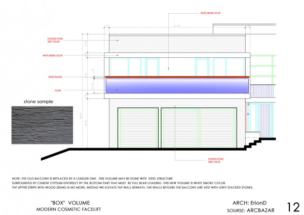 Image front volume fasade