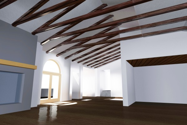 Image Wood ceiling beams
