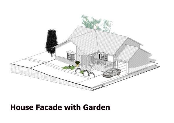 Image House Facade with Garden