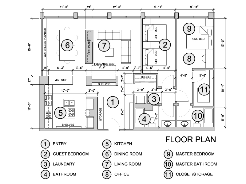 Floor plans project designed by ynl architects miami for Oceanfront floor plan