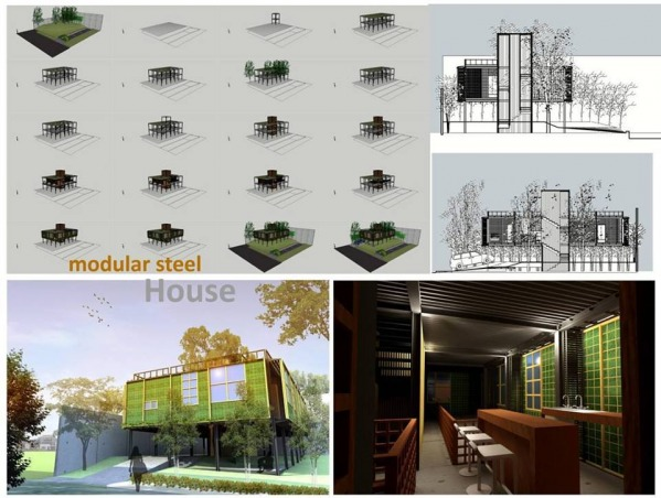 Image modular steel house