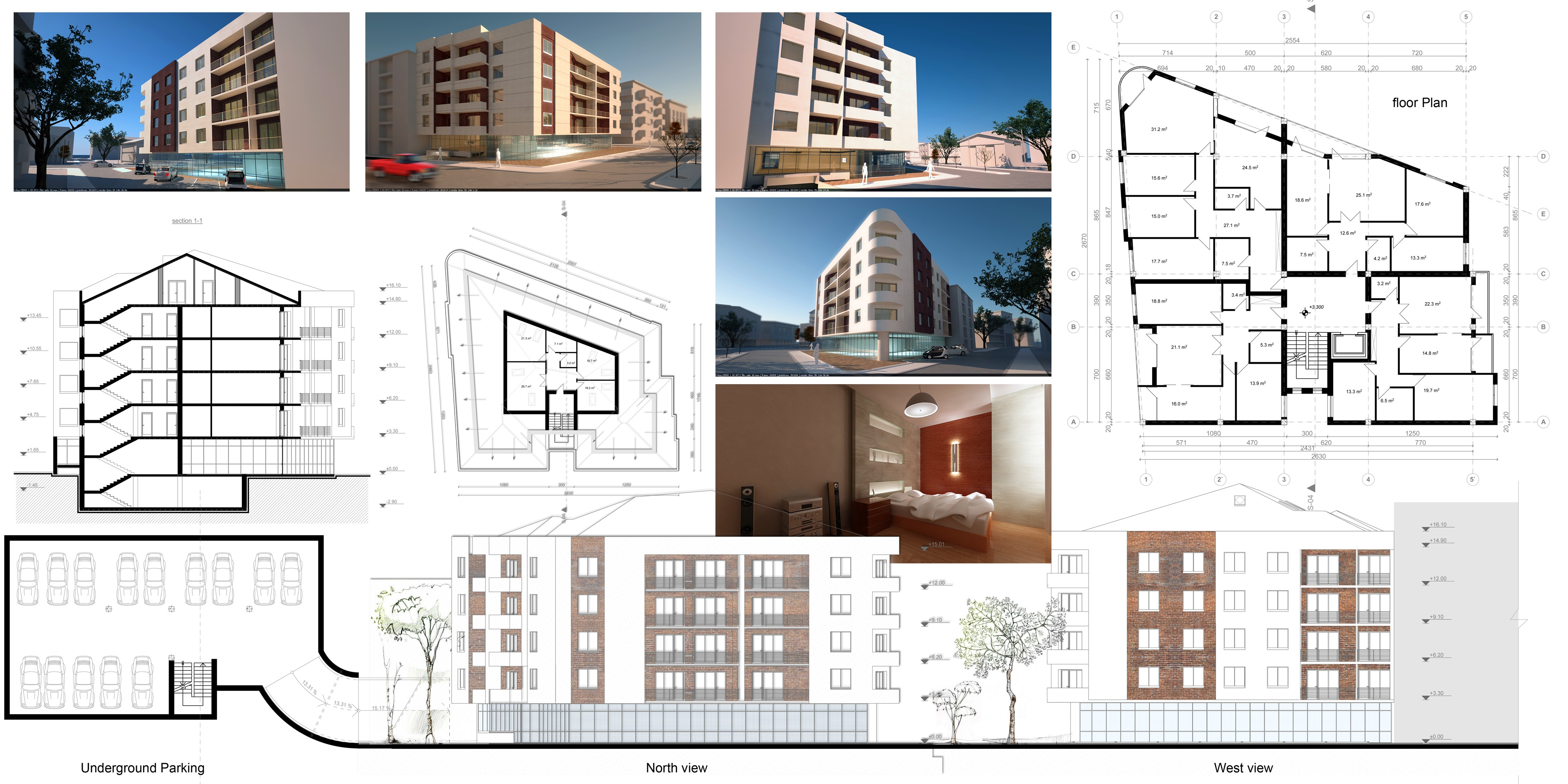 Viewdesignerproject projectapartment building plans designed by oarchitecture Residential building plans