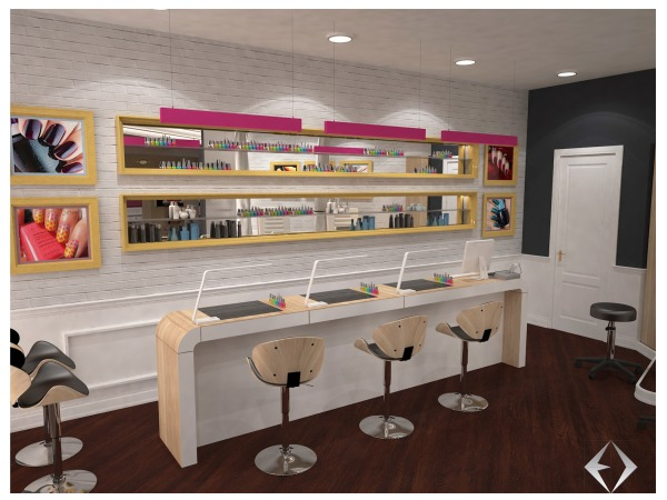 Commercial Offices Store Designed By Erion D Nail Bar In A