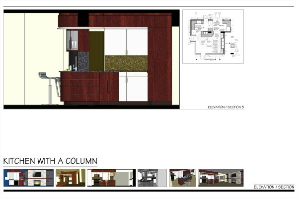 Image Kitchen with a Column! (1)