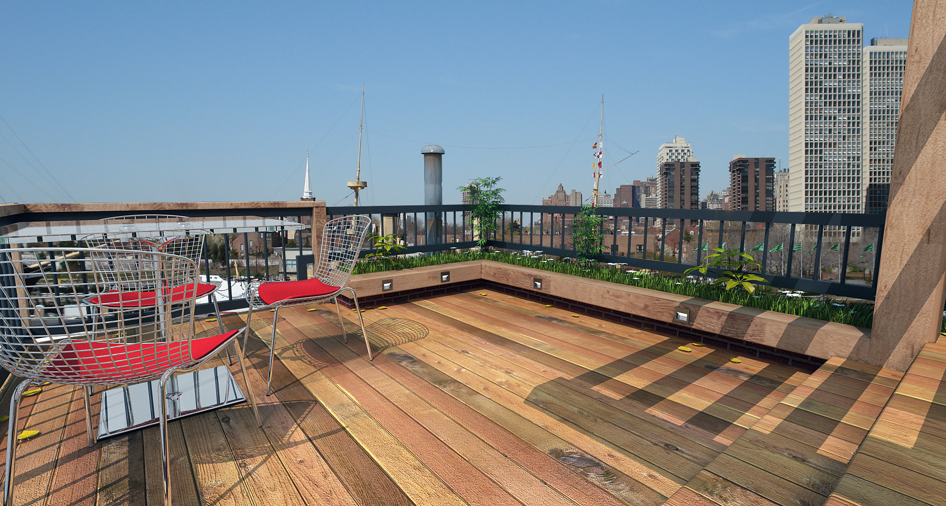 Deck designs rooftop deck design ideas for Roof deck design