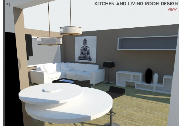 Image Kitchen & Living Room ...