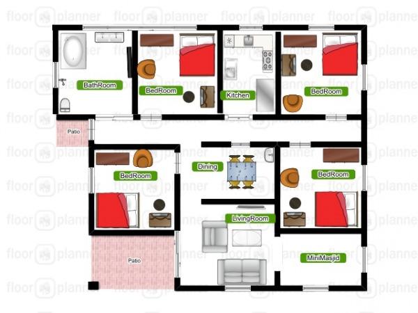 Image Tanzanian floor plan