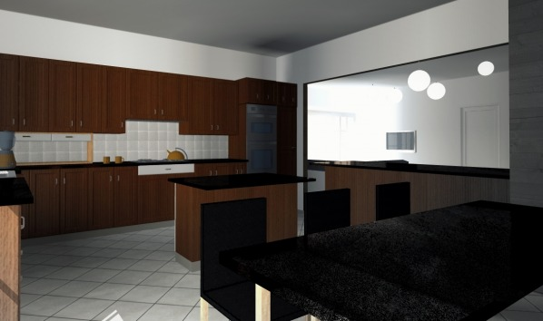 Image dining area and kitchen