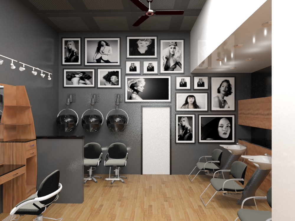 Viewdesignerproject projectcommercial for Hair salons designs ideas