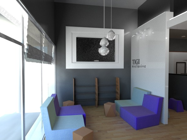 Other designed by andriana mitrovic hair salon interior for Hair salon interior designs pictures