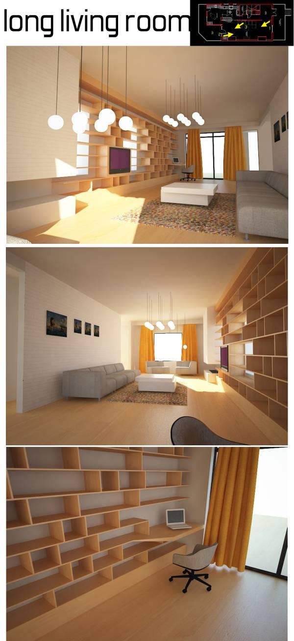Image long living room