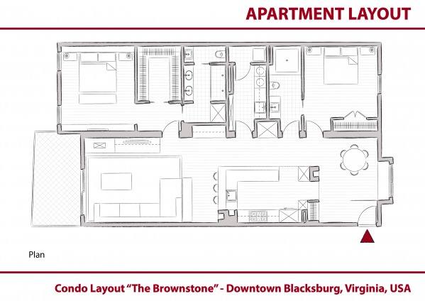 Entire Floor Designed by MG Architect Studio - Condo Layout: The