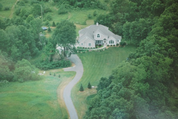 Image arial view of our home