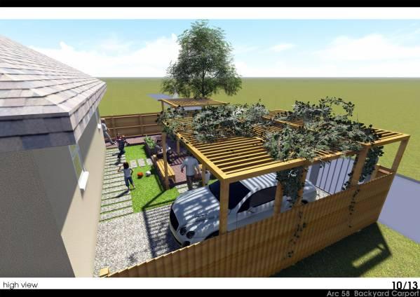 Backyard Carport Designs cool carport canopy in landscape southwestern with cactus garden ideas next to Image Backyard Carport 3