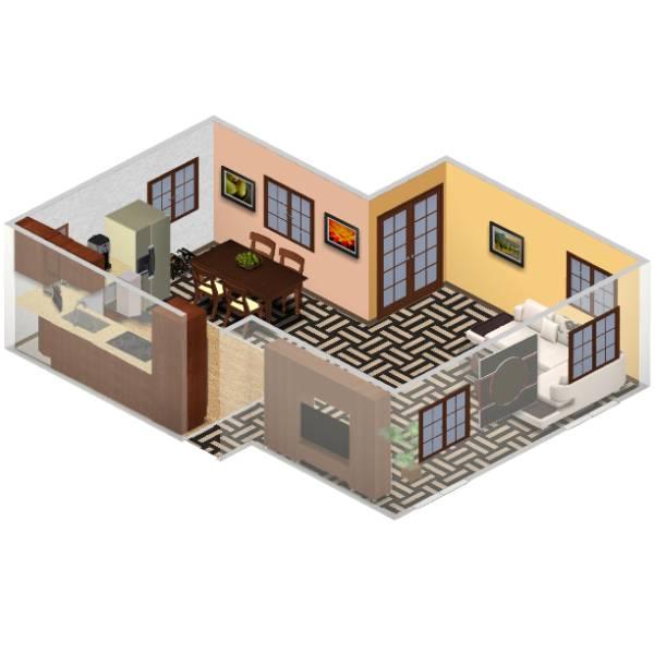 Image Kitchen & Living Room