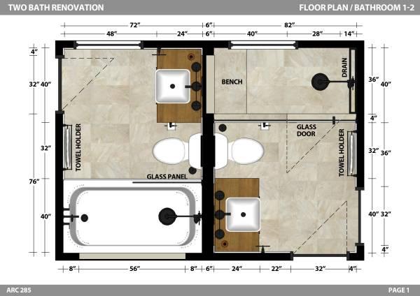Image Floor Plan - Bathrooms...