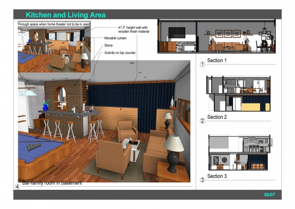 Image Kitchen and Living Area