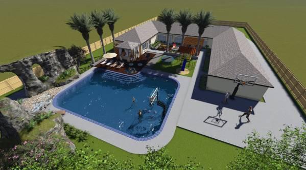 Image Tropical Backyard to E...