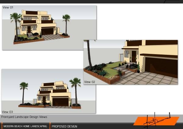 Image Modern Beach Home Land... (1)