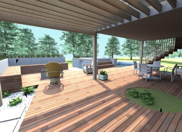 Image Back yard/Deck
