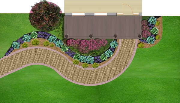Front yard bed design