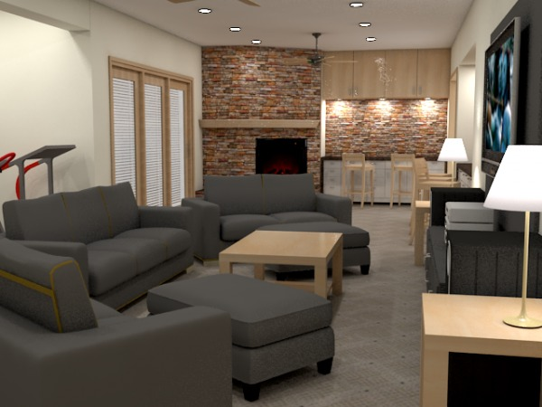 Image Basement Family Room