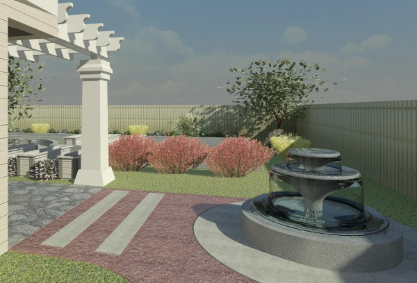 Image 3D Rendering - Fountain