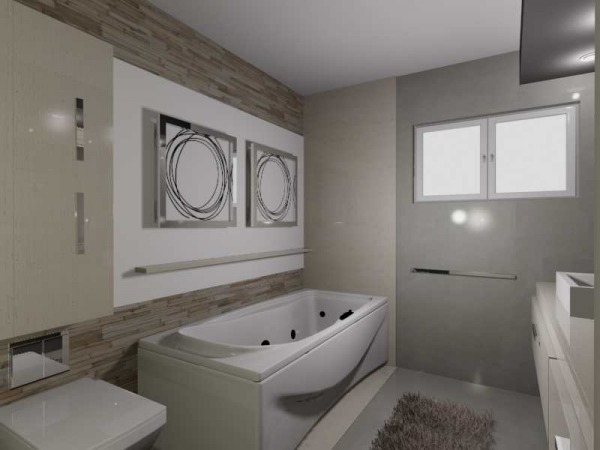 Image bathroom with laundry