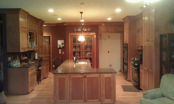 Image kitchen from family room