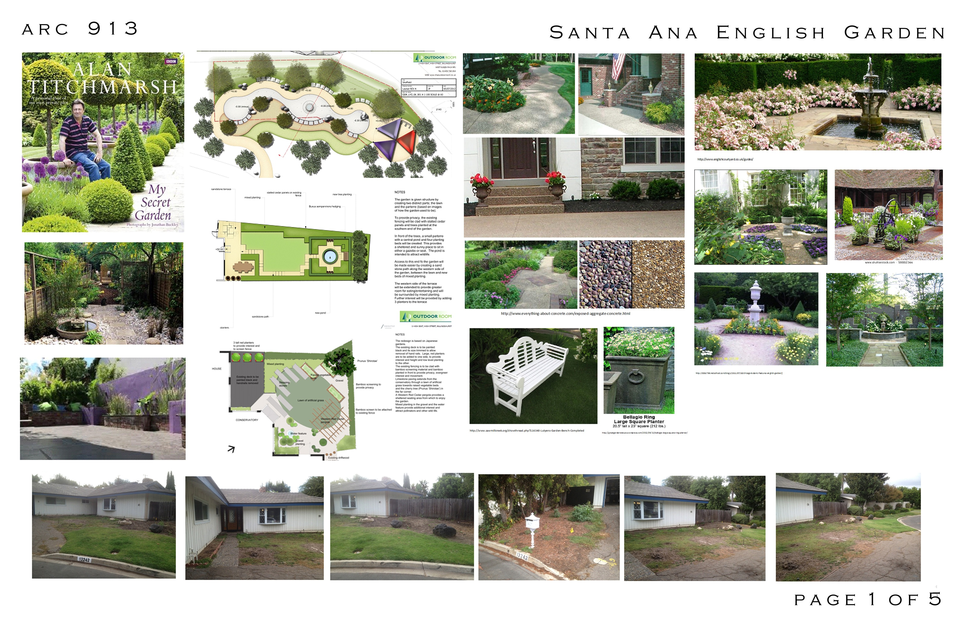 Frontyard designed by arcadia design front yard north for How to design garden layout