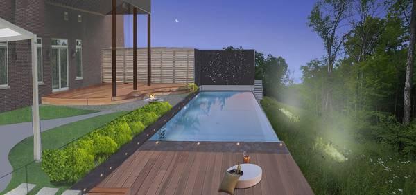 Image Backyard Pool, Deck an...