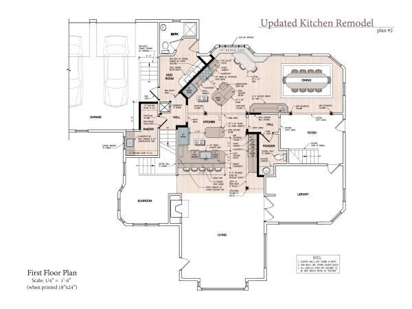 Floor Plan (Scale: 1/4...