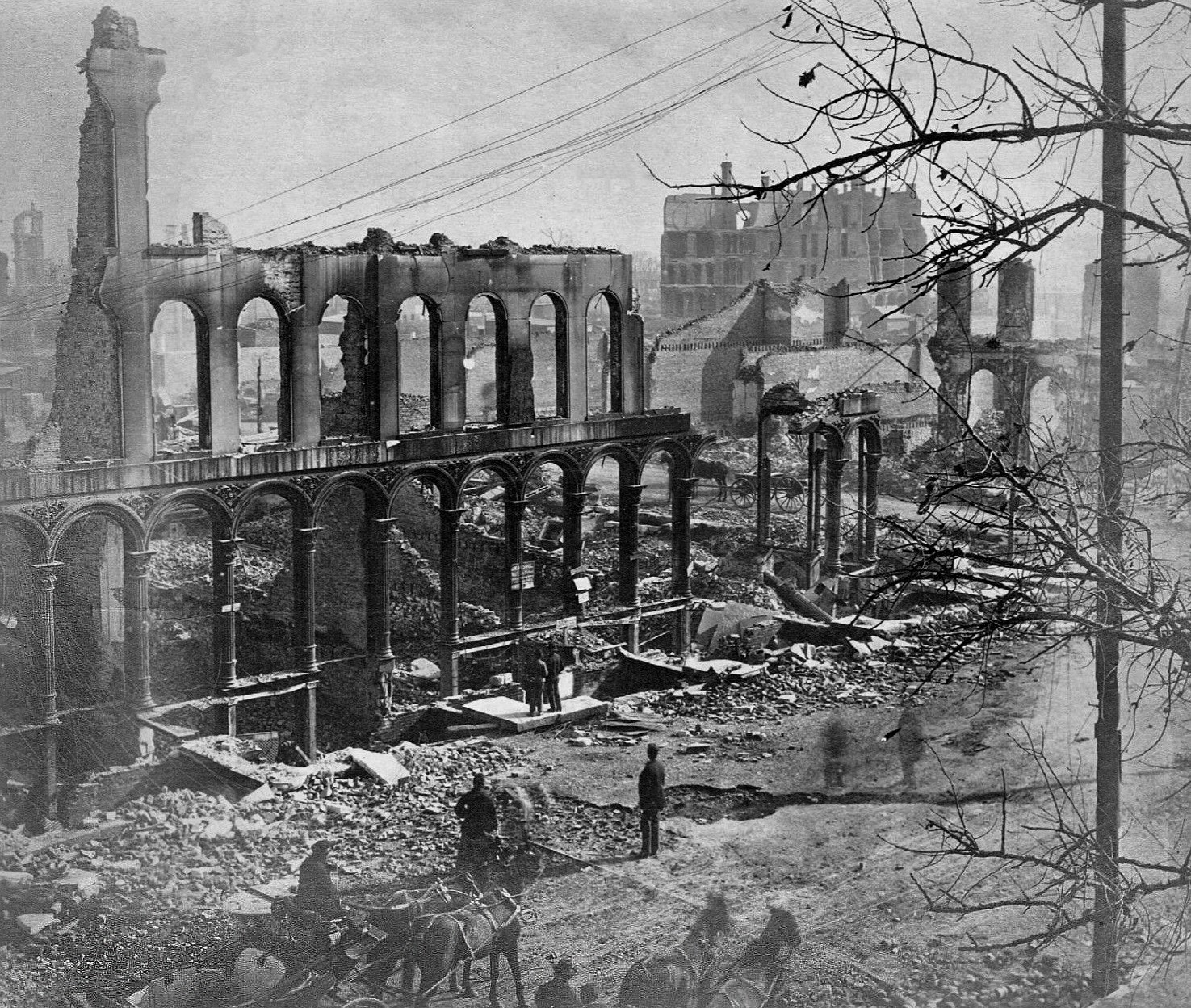 The Great Chicago Fire Of 1871 Architecture Design Visual