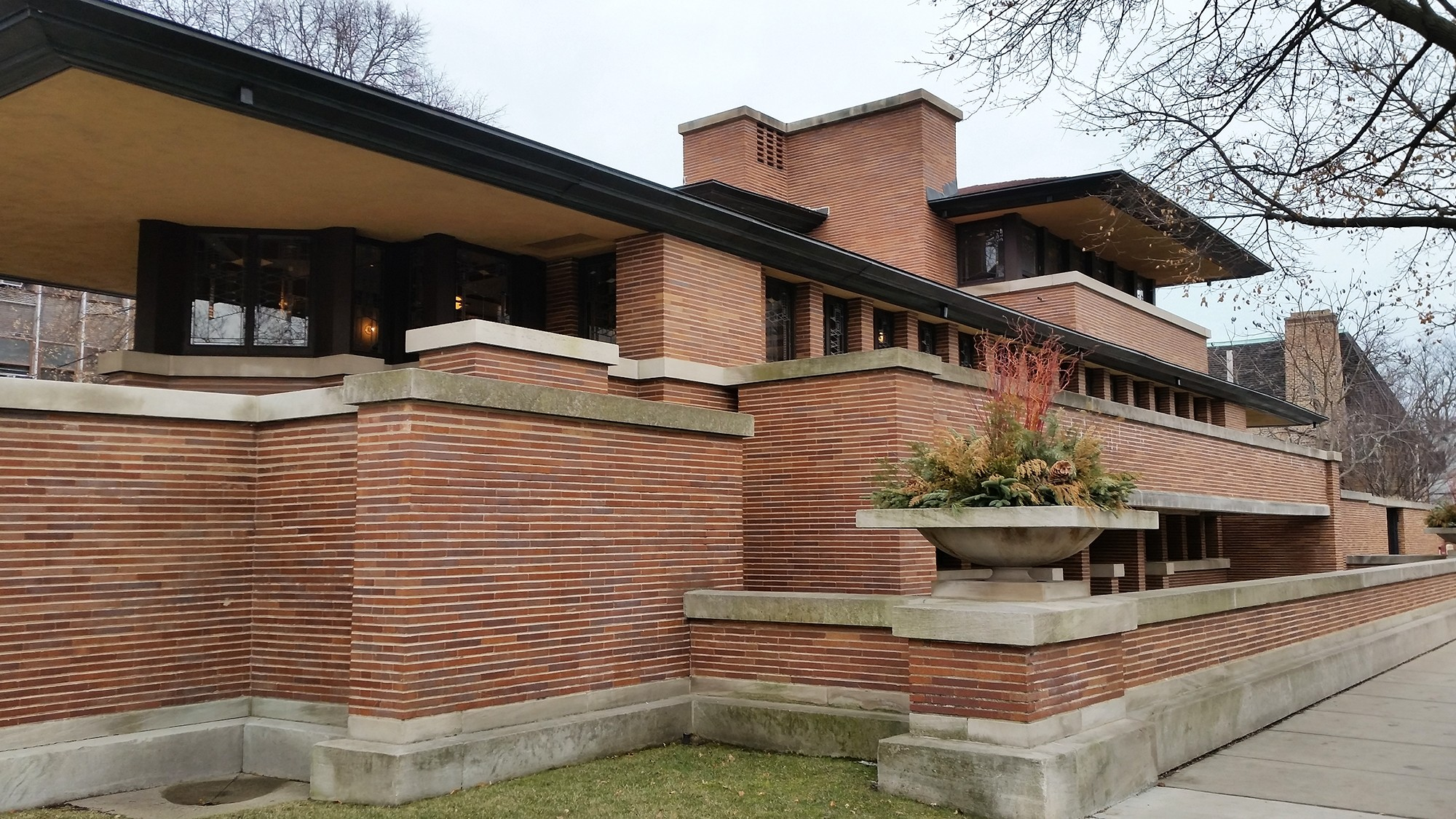 Frank Lloyd Wright Style Frederick C Robie House 183 Sites 183 Open House Chicago