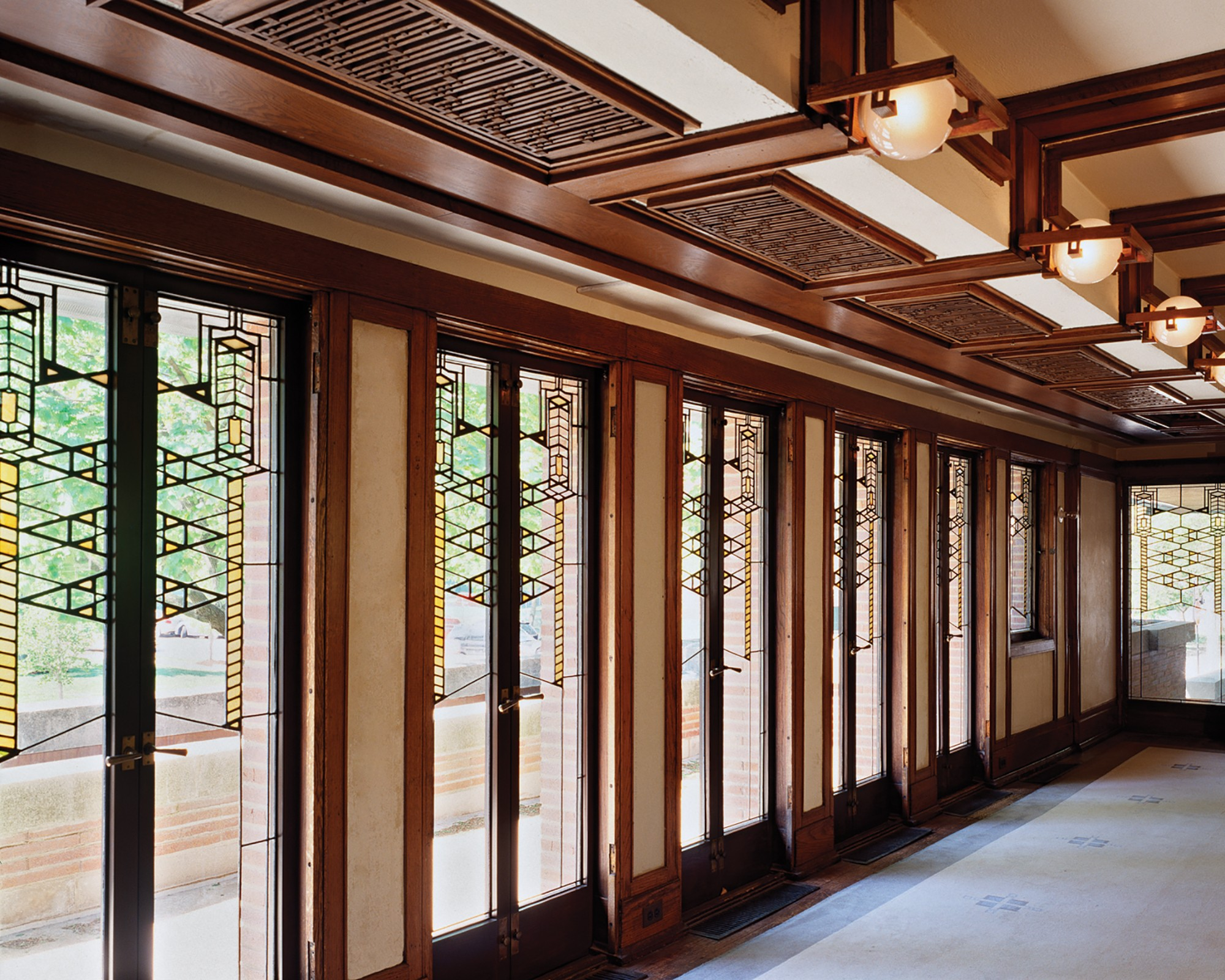 Frederick c robie house sites open house chicago Frank lloyd wright the rooms interiors and decorative arts