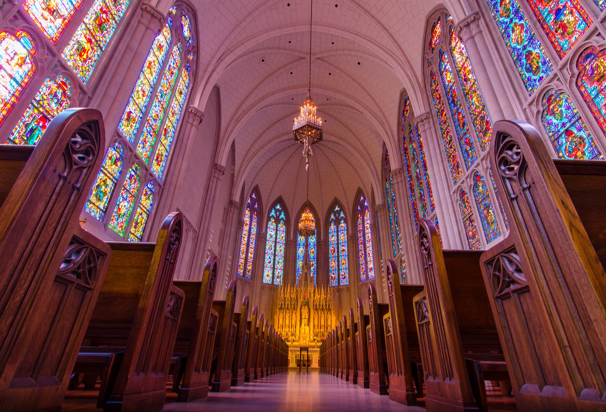 Photo by Eric Allix Rogers View & St. James Chapel at Archbishop Quigley Center · Sites · Open House ...