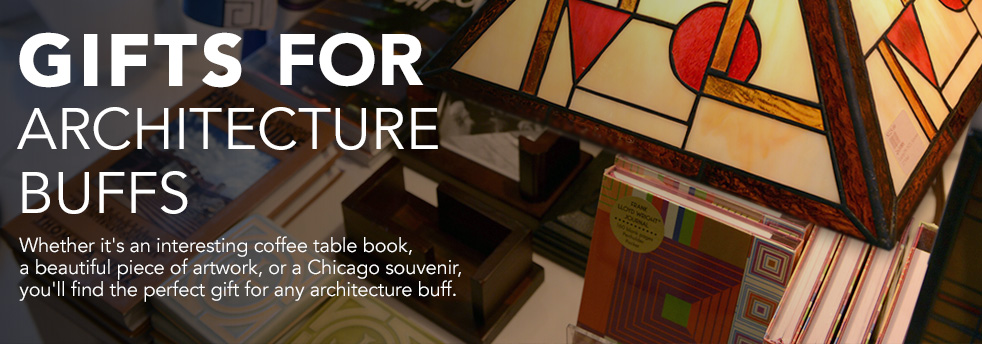 Whether it's an interesting coffee table book, a beautiful piece of artwork, or a Chicago souvenir, you'll find the perfect gift for any architecture buff here.